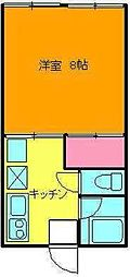 新潟県新潟市西区寺尾東2丁目の賃貸アパートの間取り