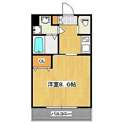 ヴィータ京都西院[3階]の間取り