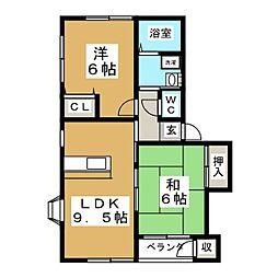 第1メゾンアカマ[2階]の間取り