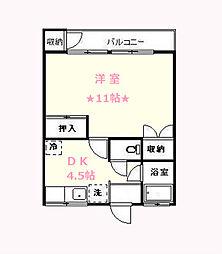 神奈川県横浜市保土ケ谷区宮田町1丁目の賃貸マンションの間取り