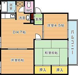 ウィンディアNORIMATU[1階]の間取り
