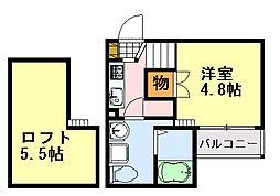 Kohimari蘇我(コヒマリ)[102号室]の間取り