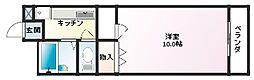 ビエンフェオークラ[2階]の間取り