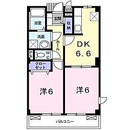 エクセレンテA[2階]の間取り
