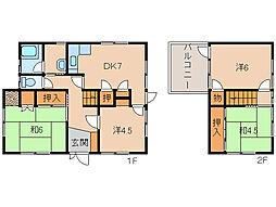[一戸建] 和歌山県和歌山市北島 の賃貸【/】の間取り