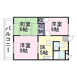 兵庫県加古川市加古川町北在家の賃貸アパートの間取り