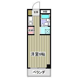 サルーテ熊谷[305号室]の間取り