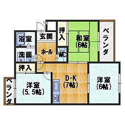 カーサNAKAMURA[303号室]の間取り