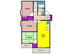 兵庫県神戸市東灘区本山北町6丁目の賃貸マンションの間取り