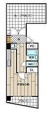 ロマネスク博多駅前(1401)[1401号室]の間取り