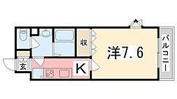 兵庫県加古郡播磨町宮北3丁目の賃貸アパートの間取り