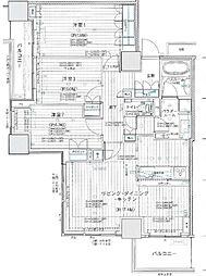 神奈川県横須賀市若松町3丁目の賃貸マンションの間取り