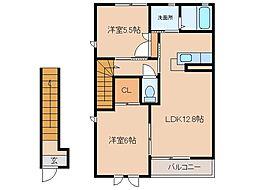 ディアスフォレスタ[2階]の間取り