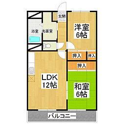 ササヤマ24[406号室]の間取り