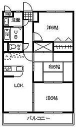 サンコート大島[B203号室]の間取り