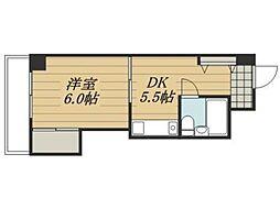 神奈川県横浜市青葉区松風台の賃貸マンションの間取り