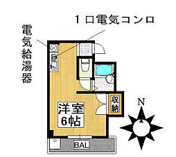 愛知県名古屋市千種区鏡池通3丁目の賃貸アパートの間取り