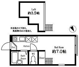 ハーミットクラブハウスマックス 横浜国大徒歩圏[102号室]の間取り