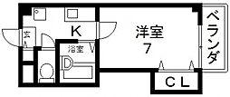 サツキマンション[505号室号室]の間取り