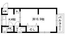セレッソ甲子園口[203号室]の間取り