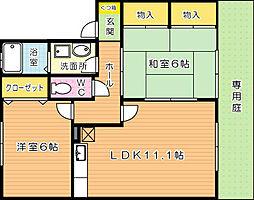 ロイヤルガーデン芳賀 C棟[1階]の間取り