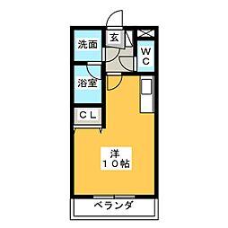 エクセル上八田II[1階]の間取り