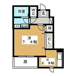 グランティア 京(きょう)[1階]の間取り