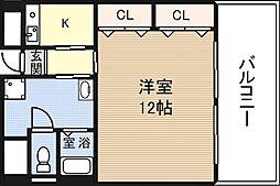 フィオレ立売堀[10階]の間取り