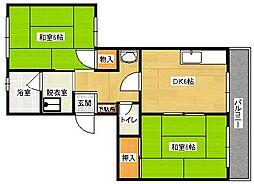 松山ビル[2階]の間取り