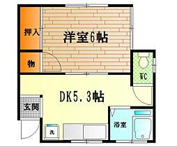 高橋アパート[202号室]の間取り