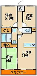 エスポワール西神戸 3階3LDKの間取り