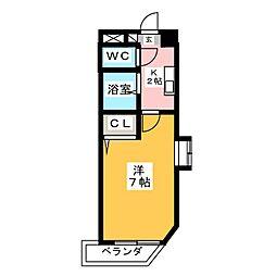 アスクHARA[5階]の間取り
