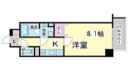 兵庫県神戸市中央区元町通り4丁目の賃貸マンションの間取り