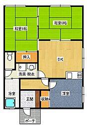 水本アパート[201号室]の間取り