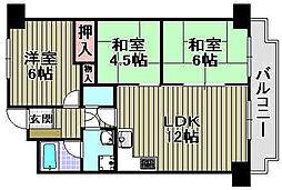 ライオンズマンション泉南樽井第[105号室]の間取り