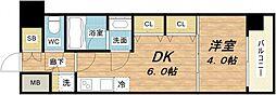 S-RESIDENCE淀屋橋[2階]の間取り