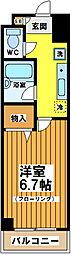 東京都杉並区和泉1丁目の賃貸マンションの間取り