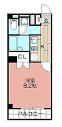 アンプルールフェール福岡[205号室]の間取り