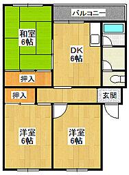 クローカスハイツ[2階]の間取り