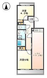 アーバンラフレ志賀 1号棟[8階]の間取り