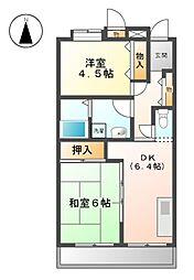 アーバンラフレ志賀 5号棟[1階]の間取り