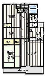 ラックスハイム鶴川1[2階]の間取り