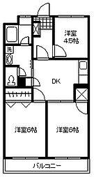 東京都小金井市東町1丁目の賃貸マンションの間取り