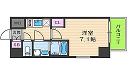 サムティ福島Rufle 7階1Kの間取り