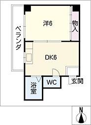 ベルメゾン太田[7階]の間取り