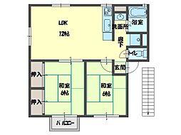 パール壱番館[2階]の間取り