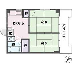 メゾンドめぐみ2[3階]の間取り