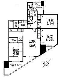 藤和ハイタウン津久野駅前[10階]の間取り