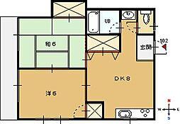 リーガル21[1階]の間取り