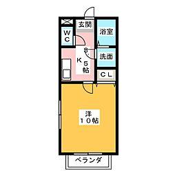 サンステージ大倉[1階]の間取り